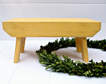 Vintage Style Step Stool No. 1 in Pencil Handmade by Circle Creek Home