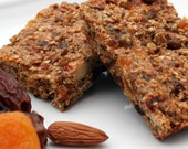 Apricot, Date and Almond Energy Bars, 16 servings