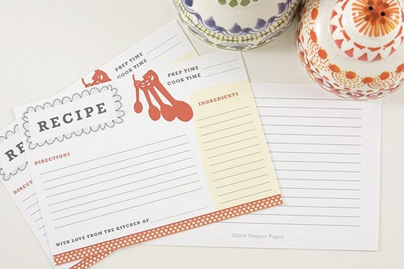 Custom listing for Debbie // Sweet Southern Recipe Card Set (20 count) //