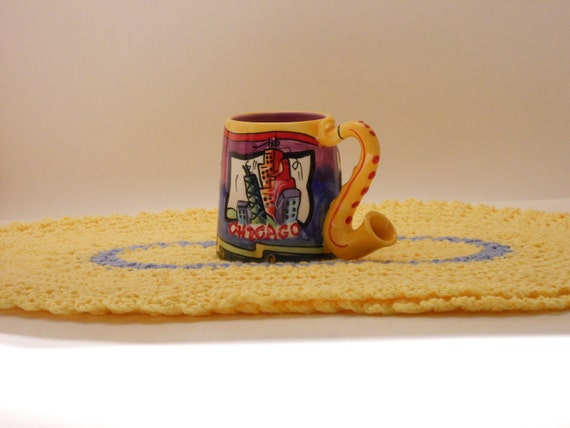 Afternoon Tea Yellow and Blue Place Mat Set