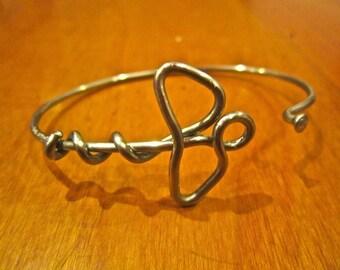 Caduceus Bicycle Spoke Bracelet