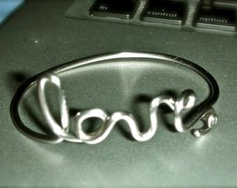 Love Bicycle Spoke Bracelet