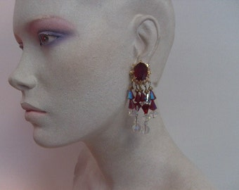 Vintage Crystal Clip-on Earrings