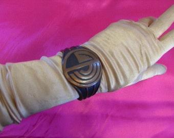 Vintage 1930s Art Deco Copper Native American Cuff Bracelet
