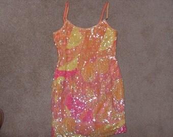 Vintage Hot 50s Sequins Party Dress