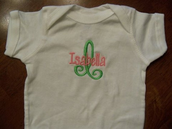Monogrammed Onesie-FAST SHIPPING personalized