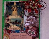 Christmas Greetings Vintage Postcard Collage