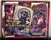 A Geary Steampunk Christmas - Mixed Media Collage