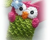 Cute Crochet OWL Nintendo DSi / 3DS / DS Lite Case Cozy by AngelsChest Boutique