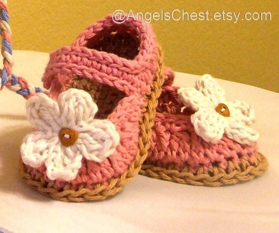 PDF Crochet Pattern MaryJanes Booties Shoes With Flowers Sizes Preemie TO 2 Years No. 3