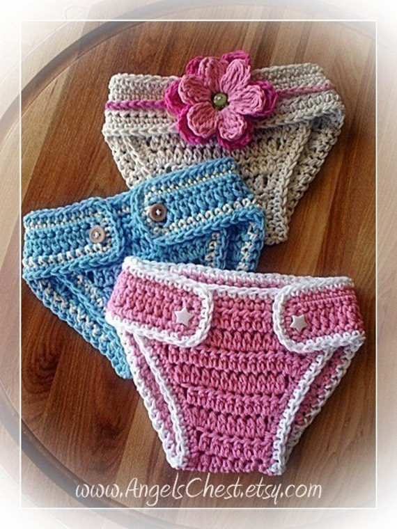 Crochet Diaper Cover : PDF PATTERN Diaper cover or diaper cozy for Newborn to 12 months Boy ...