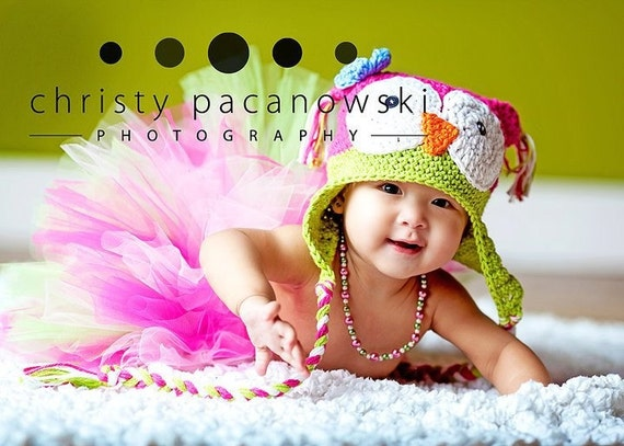 Customize OWLY is sooo cute earflat hat Boy or Girl sizes preeme to 4 years.