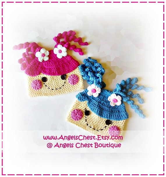 Lala Loopsy Lalaloopsy Doll Inspire Crochet Hat Pattern Size Newborn to Preteen Boutique Design - No. 38 by AngelsChest