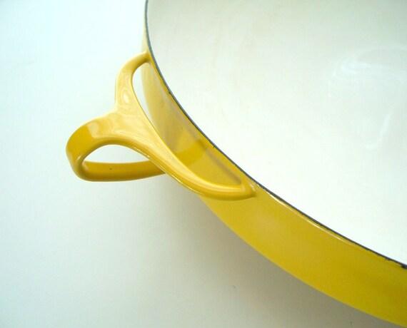 Enamelware Large Dansk Kobenstyle Paella Pan