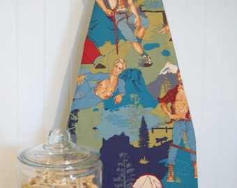Designer Ironing Board Cover - The Outdoorsy Type - Teal