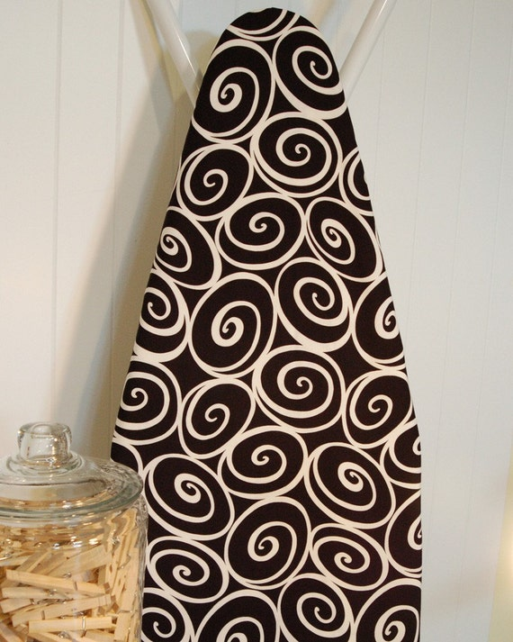 Ironing Board Cover - Michael Miller Ironworks in Ebony