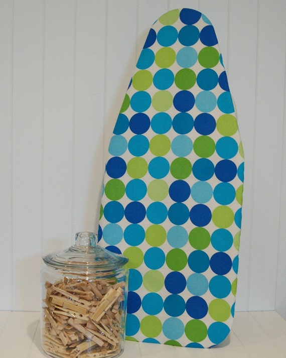 tabletop ironing board cover michael miller disco dots. Black Bedroom Furniture Sets. Home Design Ideas