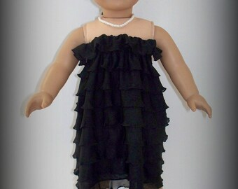 "AGD or 18"" Doll Strapless Ruffle Dress"