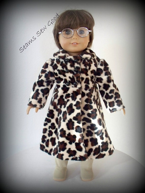 "American Girl Doll or 18"" Doll Leopard Coat"