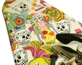 Ironing Board Cover Alexander Henry Day of the Dead vanilla for standard Ironing Board