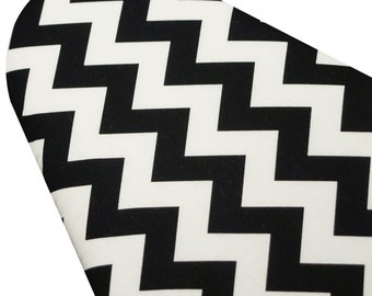 PADDED Ironing Board Cover made with Riley Blake Black and White Chevron pick your size
