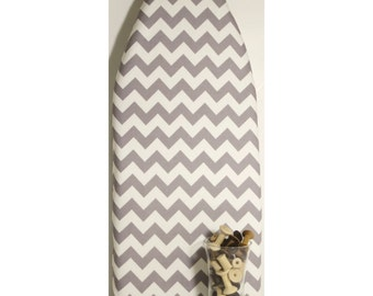 TABLETOP PADDED Ironing Board Cover Riley Blake Chevrons gray or turquoise or yellow or red or black