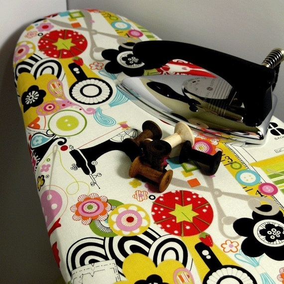 Sew in Love or Love to Sew ironing board cover for seamstresses and quilters