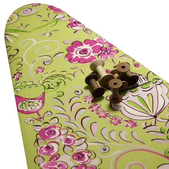 Padded ironing board cover made with dena designs tea garden for Dena designs tea garden