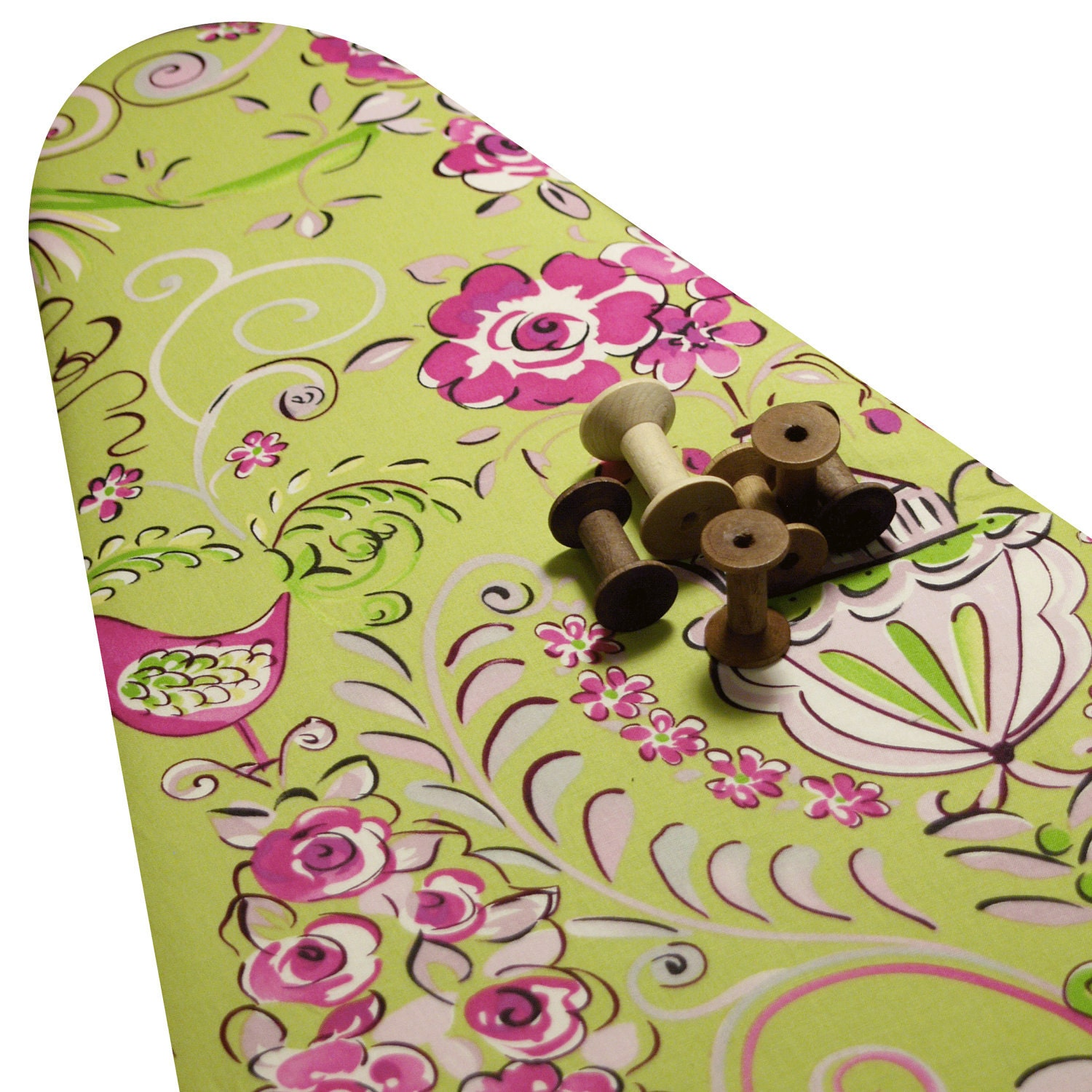 Padded ironing board cover made with dena designs tea garden for Dena designs tea garden fabric