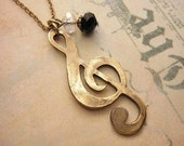 G- Clef Necklace, Music Necklace, Friendship Necklace, Gift Idea, Handmade Necklace, Bridesmaid Gift, Best Friend Gift, Charm Necklace