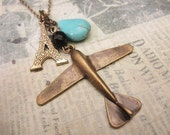 Dream Vacation to Paris. a charm necklace