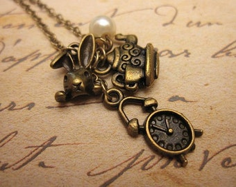 Time for Tea Charm Necklace