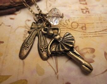 The Ballerina.  a charm necklace