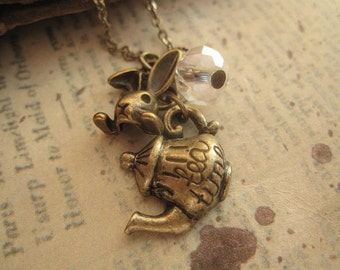 Tea time with Alice. a charm necklace