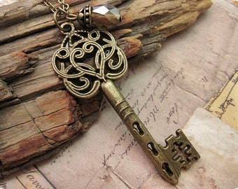 Ornate Style Victorian Key Necklace