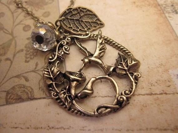 Hummingbird Charm Necklace