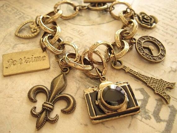 Vintage Paris. a charm bracelet