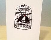 "Birdcage ""I Love You"" Notecard"