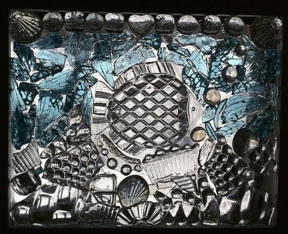 One Fish Glass On Glass Mosaic