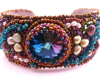 Opulence Jewel Encrusted Beaded Cuff - SALE