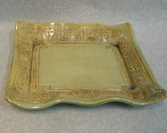 Rectangular Stoneware Serving Platter