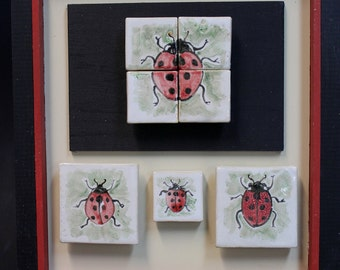 Lady Bug Tile Wall Plaque