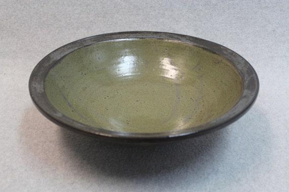 Large Stoneware Bowl (SemiMat Green)