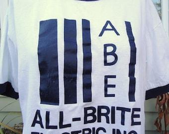 SALE! -  vintage tshirt ALL BRiTE Electric Inc ABE iron on
