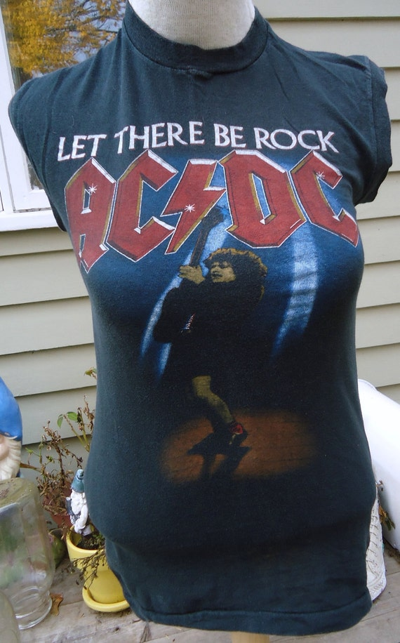 vintage tee AC/DC Let There Be Rock Tour 1977 t shirt