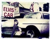 Elvis art original polaroid transfer