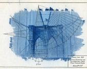 Cyanotype Brooklyn Bridge original
