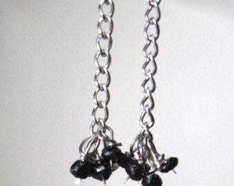 Hand Faceted Black Diamond Earrings
