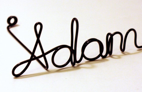BLACK personalized wire photo holder