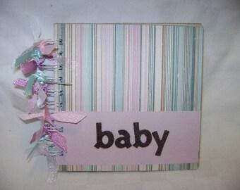 BABY 6x6 Chipboard Mini Scrapbook Album - PREMADE